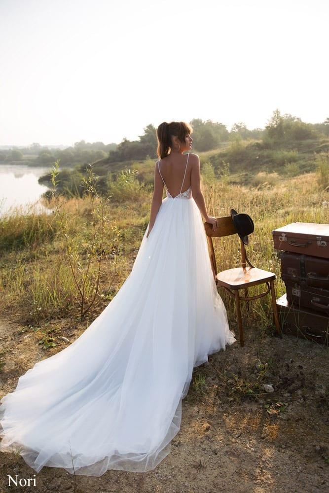 Brautkleid mit spaghetti Trägern